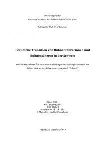 thumbnail of MA-Arbeit Berufliche Transition von Bühnentänzerinnen und Bühnentänzern in der Schweiz © Oliver Daehler